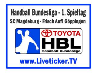 Live Sc Magdeburg Frisch Auf Göppingen Handball Bundesliga 1
