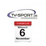 Das TV-Sport Tagesprogramm am Mittwoch, 06.11.2019