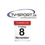 Das TV-Sport Tagesprogramm am Freitag, 08.11.2019