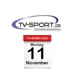 Das TV-Sport Tagesprogramm am Montag, 11.11.2019