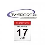 Das TV-Sport Tagesprogramm am Mittwoch, 17.07.2019